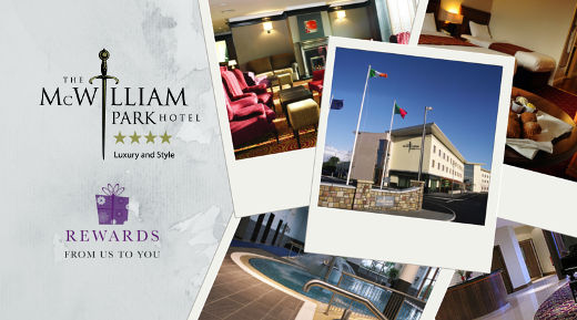 We are very happy to announce Rewards From Us To You's first hotel in Mayo the McWilliam Park Hotel